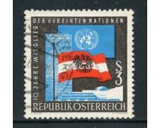 1965 - AUSTRIA - DECENNALE ONU - USATO - LOTTO/27935