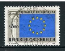 1969 - AUSTRIA - CONSIGLIO D'EUROPA - USATO - LOTTO/27946