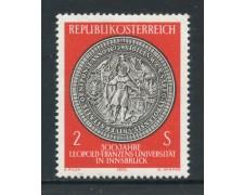 1970 - AUSTRIA - UNIVERSITA' LEOPOLDO FRANCESCO - NUOVO - LOTTO/27950