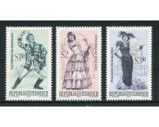1970 - AUSTRIA - OPERETTE CELEBRI 3v. - NUOVI - LOTTO/27953