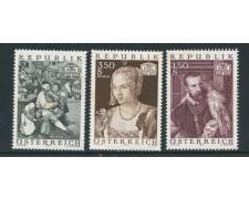 1971 - AUSTRIA - TESORI D'ARTE 3v. - NUOVI - LOTTO/27968