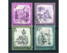 1973 - AUSTRIA - PAESAGGI 4v. - USATI - LOTTO/27995U