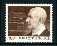 1974 - AUSTRIA - ANTON BRUCKNER - NUOVO - LOTTO/28001