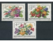 1974 - AUSTRIA - MOSTRA DI ORTICULTURA 3v. NUOVI - LOTTO/28004