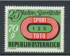 1974 - AUSTRIA - SPORT TOTO - NUOVO - LOTTO/28024