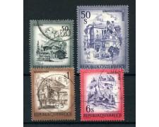 1975 - AUSTRIA - PAESAGGI 4v. - USATI - LOTTO/28027