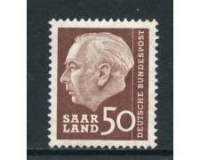 1957 -  GERMANIA SARRE - 50 F. HEUSS - NUOVO - LOTTO/28271