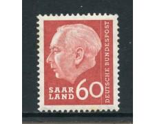 1957 - GERMANIA SARRE - 60 F. HEUSS - NUOVO - LOTTO/28272