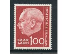 1957 - GERMANIA SARRE - 100 F. HEUSS - NUOVO - LOTTO/28273