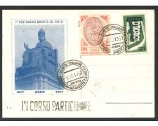 1957- REPUBBLICA - DESIO CENTENARIO DI PIO XI° - CARTOLINA - LOTTO/28280