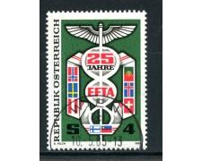 1985 - AUSTRIA - E.F.T.A. LIBERO SCAMBIO - USATO - LOTTO/28347