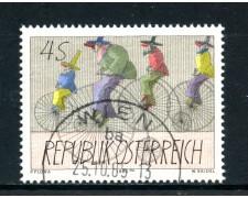 1985 - AUSTRIA - ARTE MODERNA - USATO - LOTTO/28358