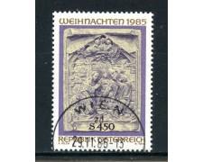 1985 - AUSTRIA - NATALE - USATO - LOTTO/28361