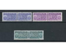 1958 - REPUBBLICA - PACCHI IN CONCESSIONE 3v. - NUOVI - LOTTO/28366