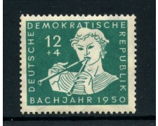 1950 - GERMANIA DEMOCRATICA - 12+4p. BACH  - T/L - LOTTO/28376