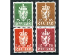 1973/74 - NORVEGIA - SERVIZIO 4v. - NUOVI - LOTTO/28388