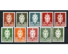 1973/74 - NORVEGIA - SERVIZIO 10 VALORI DIFFERENTI - NUOVI - LOTTO/28389