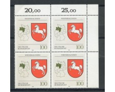 1993 - GERMANIA FEDERALE - BASSA SASSONIA - QUARTINA NUOVI - LOTTO/28394