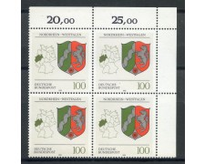 1993 - GERMANIA FEDERALE - RENANIA WESPHALIA - QUARTINA NUOVI - LOTTO/28395