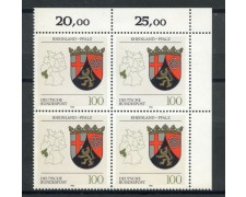 1993 - GERMANIA FEDERALE - RENANIA PALATINATO - QUARTINA NUOVI - LOTTO/28396