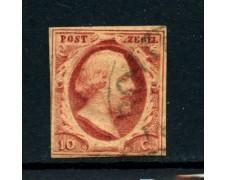 1852 - OLANDA - 10 cent. RE GUGLIELMO III° - USATO - LOTTO/28406