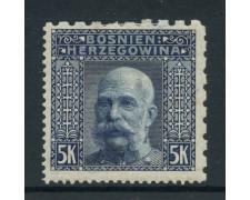 1906 - BOSNIA ERZEGOVINA - 5k. FRANCESCO GIUSEPPE - LING. - LOTTO/28424