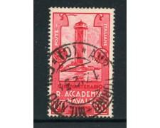 1931 - REGNO -  20 c. ACCADEMIA NAVALE DI LIVORNO  - USATO - LOTTO/28434
