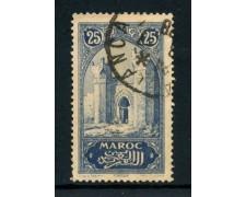 1917 - MAROCCO FRANCESE - 25c. PORTA DI CHELLA - USATO - LOTTO/28440