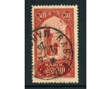 1917 - MAROCCO FRANCESE - 30c. PORTA DI CHELLA - USATO - LOTTO/28441