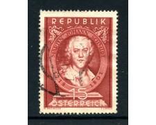 1951 - AUSTRIA - M.J.SCHMIDT PITTORE - USATO - LOTTO/28449