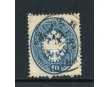 1863 - AUSTRIA  - 10 K. AQUILA BICIPITE - USATO - LOTTO/28451