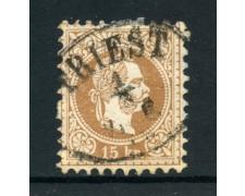 1874/80 - AUSTRIA - 15 Kr. BRUNO - USATO - LOTTO/28452