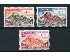 1961/64 - ANDORRA FRANCESE - POSTA AEREA 3v. - NUOVI - LOTTO/28459