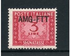 1949/54 - TRIESTE A - 3 LIRE SEGNATASSE - NUOVO - LOTTO/28463