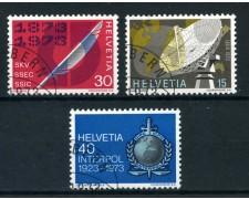 1973 - SVIZZERA - PROPAGANDA 3v. - USATI - LOTTO/28472