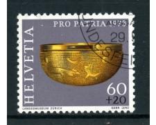 1973 - SVIZZERA - 60+20c. PRO PATRIA - USATO - LOTTO/28475