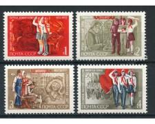 1972 - RUSSIA - PIONIERI DI LENIN 4v. - NUOVI - LOTTO/28494