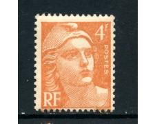 1948 - FRANCIA - 4 Fr. ARANCIO MARIANNA - NUOVO - LOTTO/28513