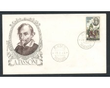 1965 - REPUBBLICA - ALESSANDRO TASSONI - BUSTA FDC - LOTTO/28604