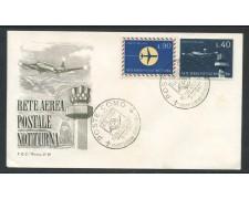 1965 - REPUBBLICA - RETE AEREA NOTTURNA - BUSTA FDC - LOTTO/28607