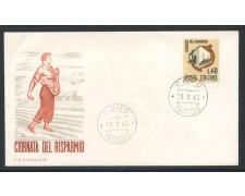 1965 - REPUBBLICA - GIORNATA DEL RISPARMIO - BUSTA FDC - LOTTO/28608