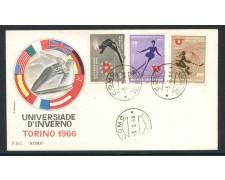 1966 - REPUBBLICA - UNIVERSIADI D'INVERNO - BUSTA FDC - LOTTO/28609