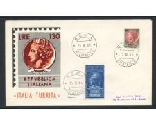 1966 - REPUBBLICA - 20 Lire PNEUMATICA + 130 Lire SIRACUSANA - BUSTA FDC - LOTTO/28612