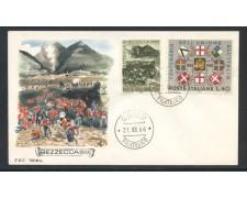 1966 - REPUBBLICA - BATTAGLIA DI BEZZECCA - BUSTA FDC - LOTTO/28617