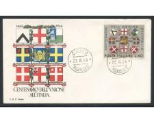 1966 - REPUBBLICA - UNIONE ALL'ITALIA - BUSTA FDC - LOTTO/28618
