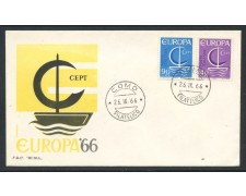 1966 - REPUBBLICA - EUROPA - BUSTA FDC - LOTTO/28624
