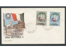 1966 - REPUBBLICA - VENTENNALE - BUSTA FDC - LOTTO/28625