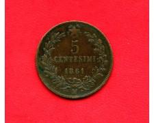 1861 - ITALIA REGNO - 5 CENTESIMI ZECCA DI MILANO - LOTTO/M28738