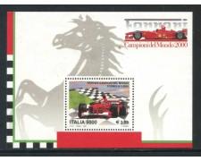 2001 - ITALIA REPUBBLICA - FERRARI CAMPIONI - FOGLIETTO NUOVO - LOTTO/28894