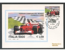 2001 - ITALIA REPUBBLICA - FERRARI CAMPIONI - CARTOLINA MAXIMUM - LOTTO/28895